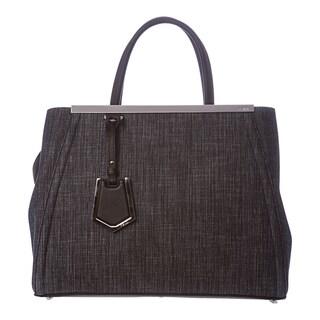 Fendi '2Jours' Medium Blue Denim Shopper Bag