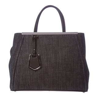 Fendi '2Jours' Medium Blue Denim Shopper Bag