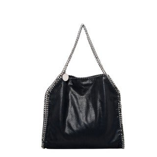 Stella McCartney 'Falabella Shaggy Deer' Small Black Tote