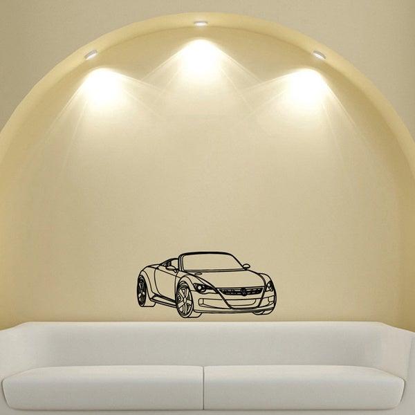 Machine Volkswagen Cabriolet Vinyl Wall Decal Art