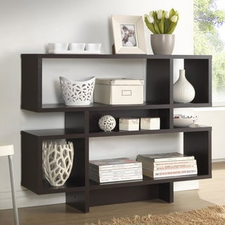 Porch & Den Hanalei Dark Brown Modern Multiple Storage Shelf