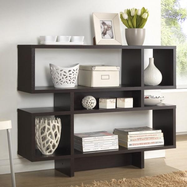 baxton studio evelyn dark brown modern storage shelf. Black Bedroom Furniture Sets. Home Design Ideas