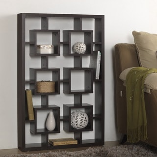 Baxton Studio Hadley Dark Brown/ Espresso Modern Storage Shelf