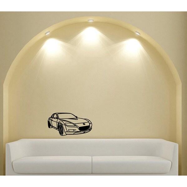 Machine Sport Mazda RX-7 Vinyl Wall Decal