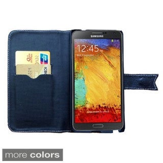 BasAcc Leather Wallet Case with Stand for Samsung Galaxy Note 3/ N9000
