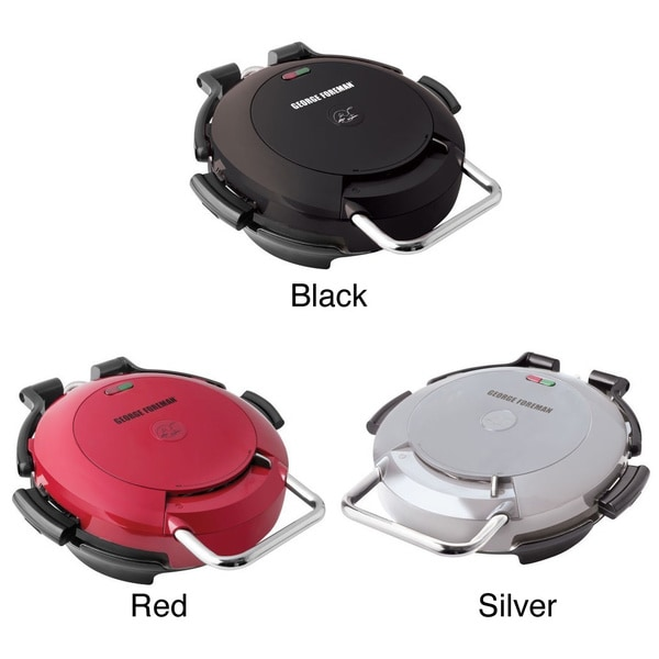George Foreman 360 Electric Nonstick Grill with Interchangeable Grill Plates (Refurbished)