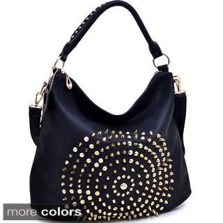 Dasein Multi-studded Large Hobo Bag