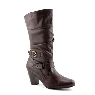 White Mountain Women's 'Ginger' Faux Leather Boots (Size 8.5 )