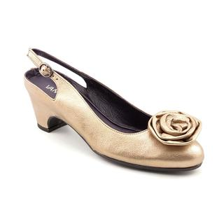 Vaneli Frankie Womens Size 8.5 Blue Narrow Leather Flats Shoes Used