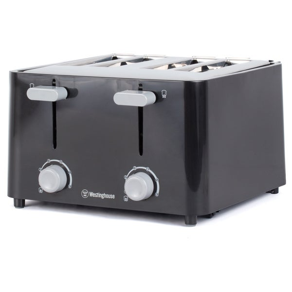 Westinghouse Black 4-slice Toaster