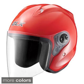 GLX Open Face Motorcycle Helmet