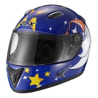 GLX Star Blue Youth Full-face Motorcycle Helmet