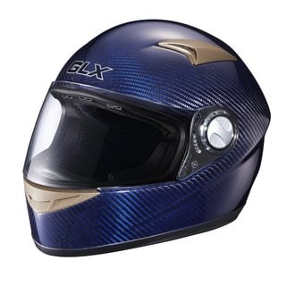 GLX Blue Carbon Full-face Motorcycle Helmet