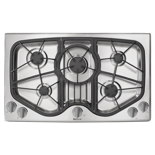 Jenn Air 36 Inch 5 Burner Stainless Steel Gas Cooktop
