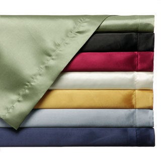 Convert-A-Fit Satin Sheet Set - Fitted and Flat Sheet are Attached.