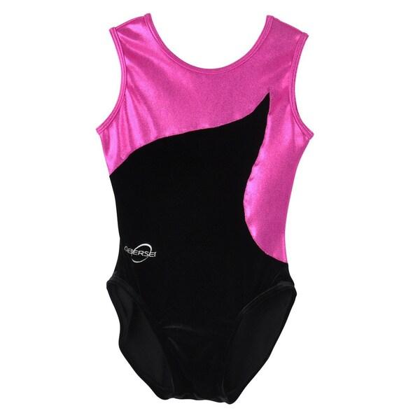 Obersee Kids Pink Flow Gymnastics Leotard