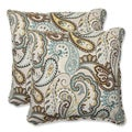 Pillow Perfect 'Tamara Paisley Quartz' 18.5-inch Square Outdoor Throw Pillow (Set of 2)