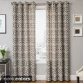 Kaili Faux Linen Grommet Top Curtain Panel