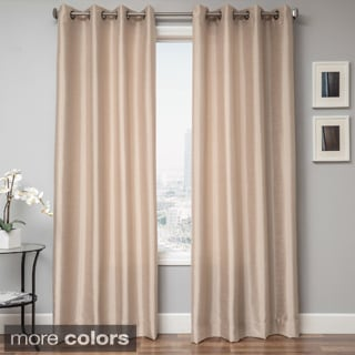 Savanna Faux Silk Grommet Top Curtain Panel