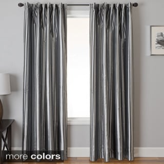 Elton Stripe Jacquard Back Tab Curtain Panel