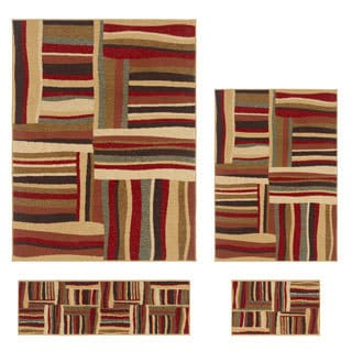 Contemporary Lagoon 4560 Multicolored Area Rugs (Set of 4)