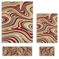Contemporary Lagoon 4602 Beige/ Multicolored Area Rugs (Set of 4)