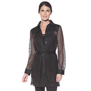 Anatomie Women's 'Moni Cheri' Black Sheer Jacket-dress