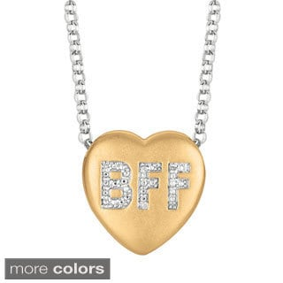 Sweethearts Diamond Accent 'BFF' Best Friends Heart Necklace (H-I, SI1-SI2)