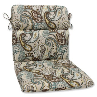 Pillow Perfect 'Tamara Paisley Quartz' Rounded Corners Outdoor Chair Cushion