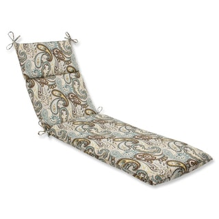 Pillow Perfect 'Tamara Paisley Quartz' Outdoor Chaise Lounge Cushion