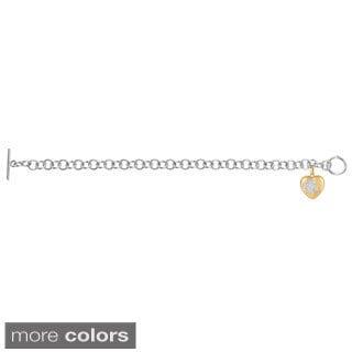 Sweethearts Diamond Accent Clover Heart Charm Bracelet (H-I, SI1-SI2)