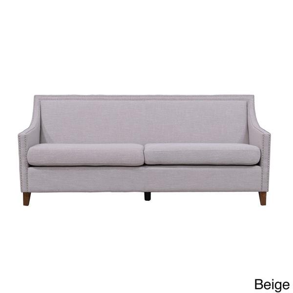 McKinley Linen Nailhead Accent Sofa