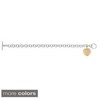 Sweethearts Diamond Accent 'Angel' Sentiment Heart Bracelet (H-I, SI1-SI2)