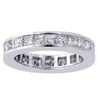 14/18k Gold or Platinum 3ct TDW Princess-cut Diamond Eternity Wedding Band (F-G, SI1-SI2)