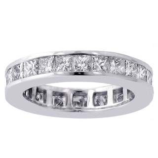 14/18k Gold or Platinum 3ct TDW Princess-cut Diamond Eternity Wedding Band (F-G, SI1-SI2)