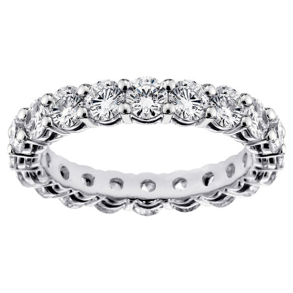 14k/ 18k Gold or Platinum 3ct TDW Round-cut Diamond Eternity Wedding Band (G-H, SI1-SI2)