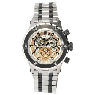 Invicta Men's 'Jason Taylor' Stainless Steel Skeleton Watch