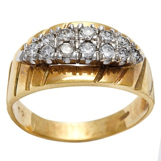 18k Yellow Gold 1/2ct TDW Antique Band Ring (H-I, SI1-SI2)