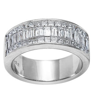 Pre-owned Christopher Designs Platinum 2ct TDW Diamond Criss-Cut Band Estate Ring (G-H, SI1-SI2)