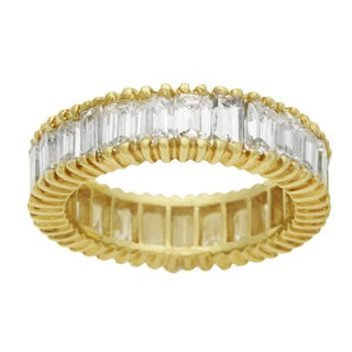 18k Yellow Gold 3 1/3ct TDW Diamond Eternity Estate Ring (G-H, VS1-VS2)