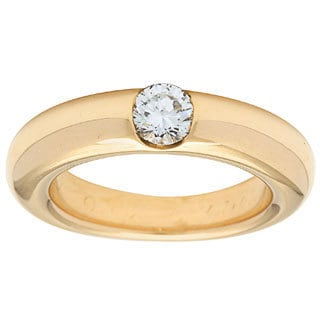 Cartier 18k Yellow Gold 1/2ct TDW Band Ring (F-G, VS1-VS2)