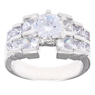 Simon Frank 'Beautiful Light' Tapered Princess Cut CZ Engagement Ring