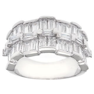 Simon Frank Elegant Baguette CZ Wedding Band