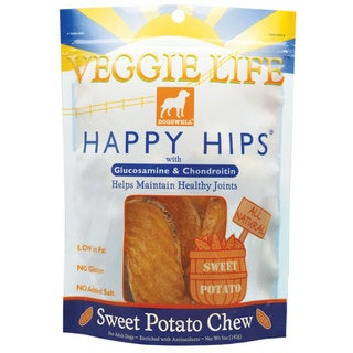 Dogswell Happy Hips Veggie Life Sweet Potato Dog Treat Chews (2 Pack)