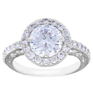 Simon Frank 2ct. TGW 'Belle Luminere' Beautiful Light CZ Wedding Ring