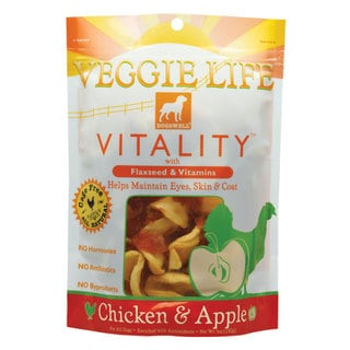 Dogswell Veggie Life Vitallity Chicken/ Apple Dog Treat Chews (2 Pack)