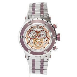 Invicta Men's IN12959 'Jason Taylor' Stainless Steel Skeleton Quartz Watch