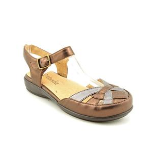 Portlandia Women's 'Lucca' Leather Sandals - Wide