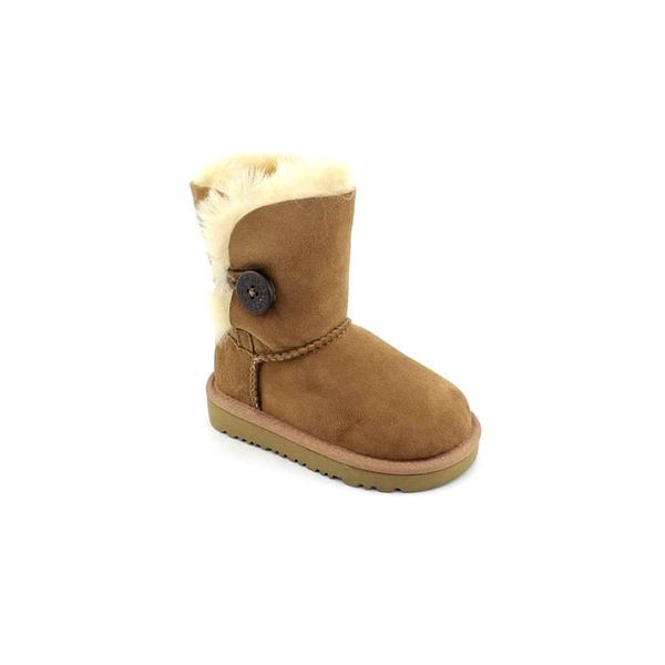 Ugg Australia Girl (Toddler) 'Bailey Button' Regular Suede Boots