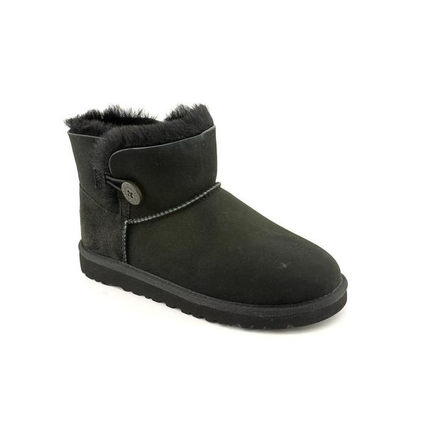 Ugg Australia Girl (Youth) 'Mini Bailey Button' Regular Suede Boots (Size 6 )